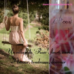 Un sillage de Rose, fleuri, sucré Amour, tendresse douceur