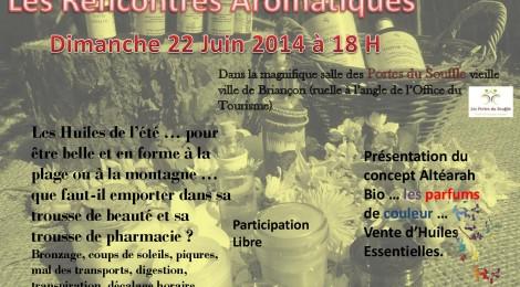 Les Rencontre Aromatiques  du Dimanche 22 Juin aux Portes du Souffle